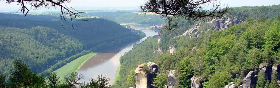 Blick auf die Elbe von der Bastei