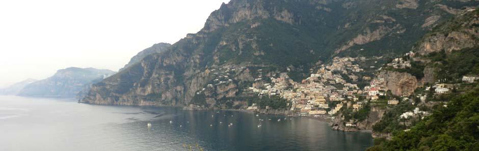 Blick auf Positano, Italien