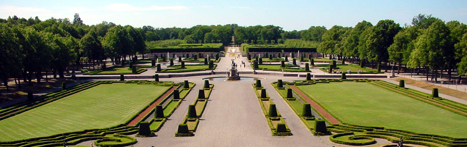 Garten von Schloss Drottningholm, Stockholm